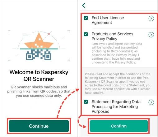 qr code reader app kaspersky