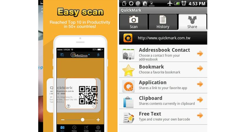 qr code scanner apps quickmark
