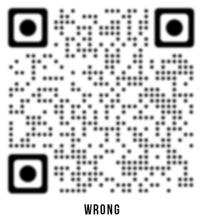 invalid qr code