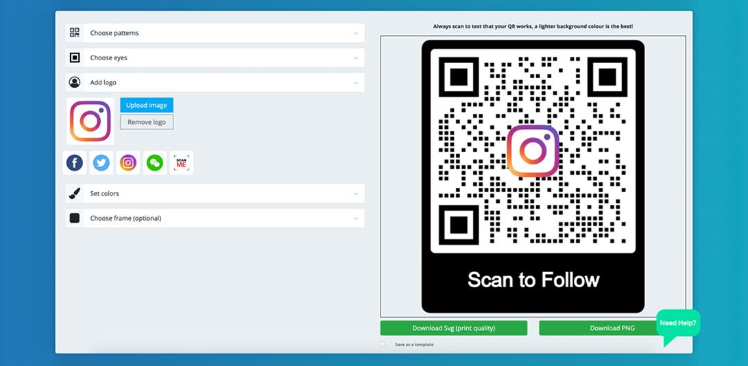 instagram qr code customize qr code