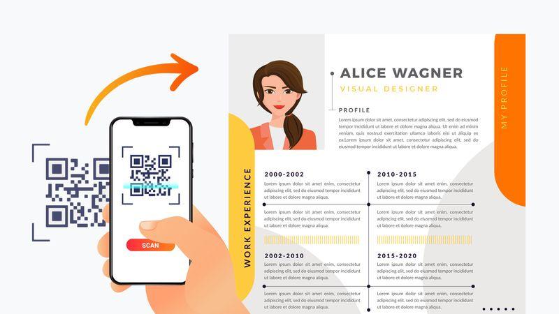 qr code digital business card