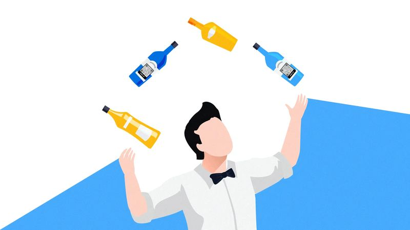 qr codes on bottles for recipes