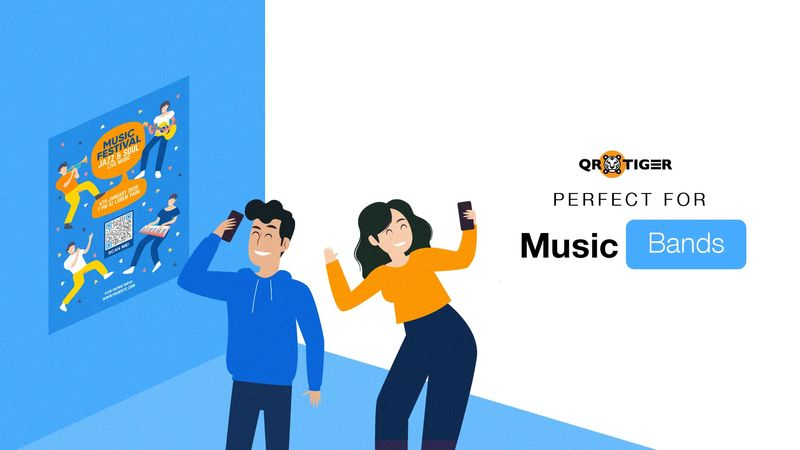 mp3 qr codes for a music band