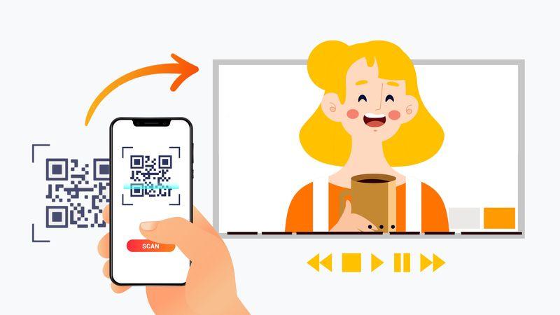 qr code business card iphone