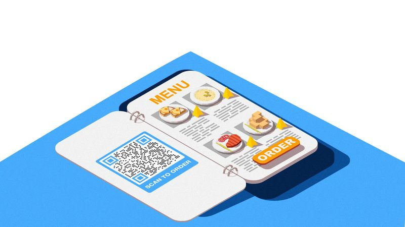 qr codes on table tents for reservations