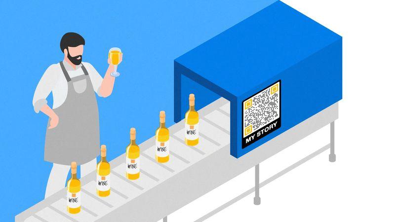 qr codes on bottles for stories