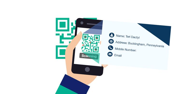 qr codes in china share contact info