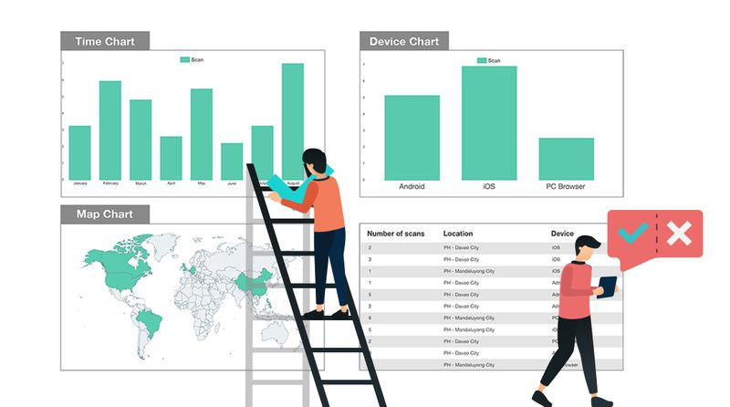 qr code resume track data