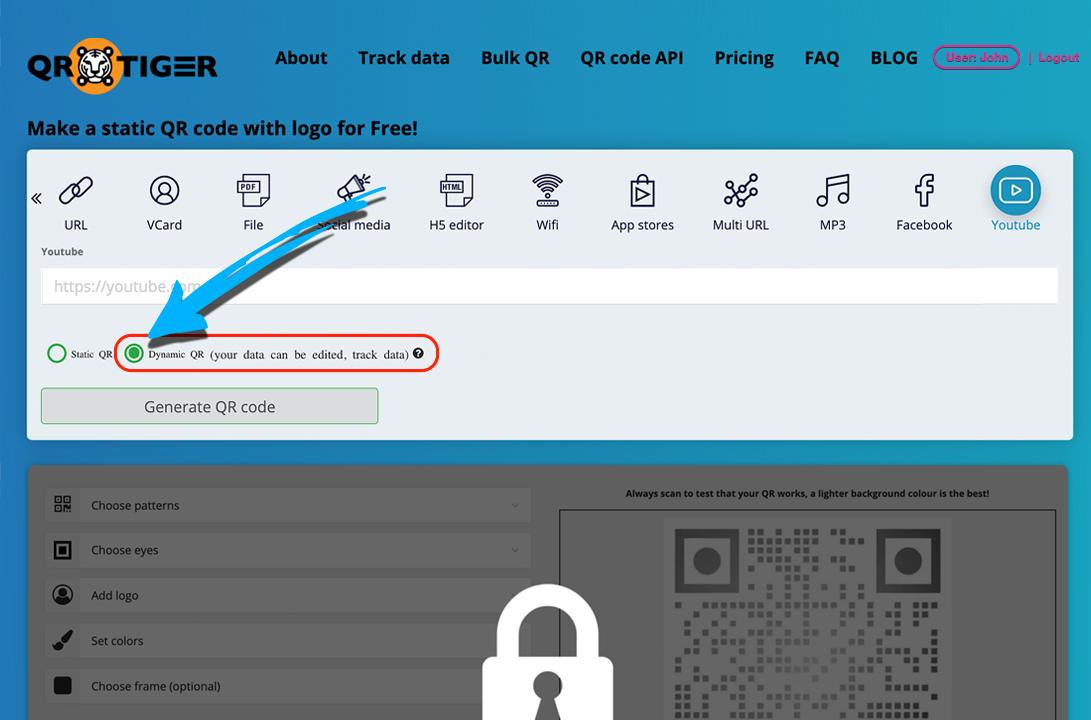 qr code redirect to website