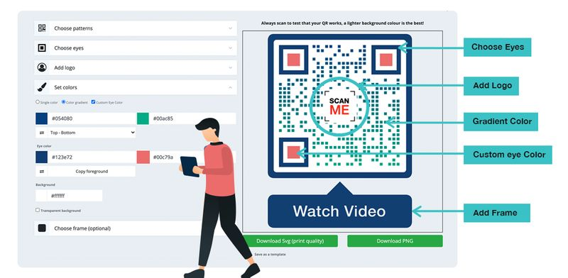 how to create a qr code for a website customize