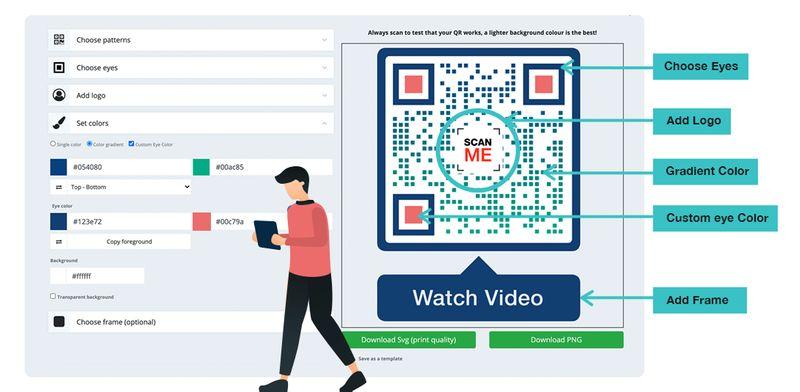 visual qr codes customize