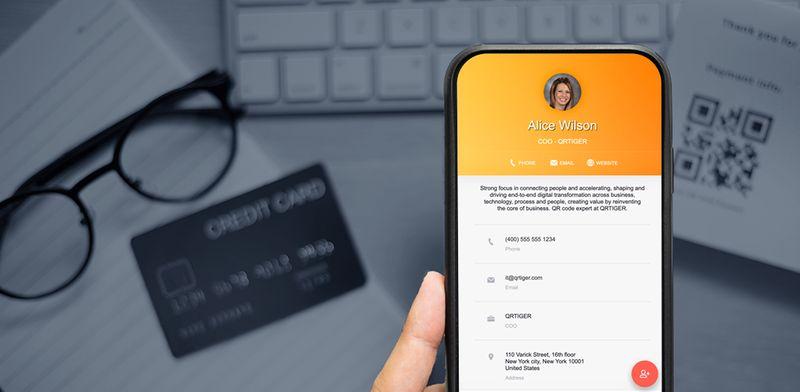 qr code business card generator vcard