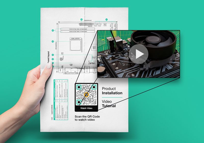 qr code generator for video manuals