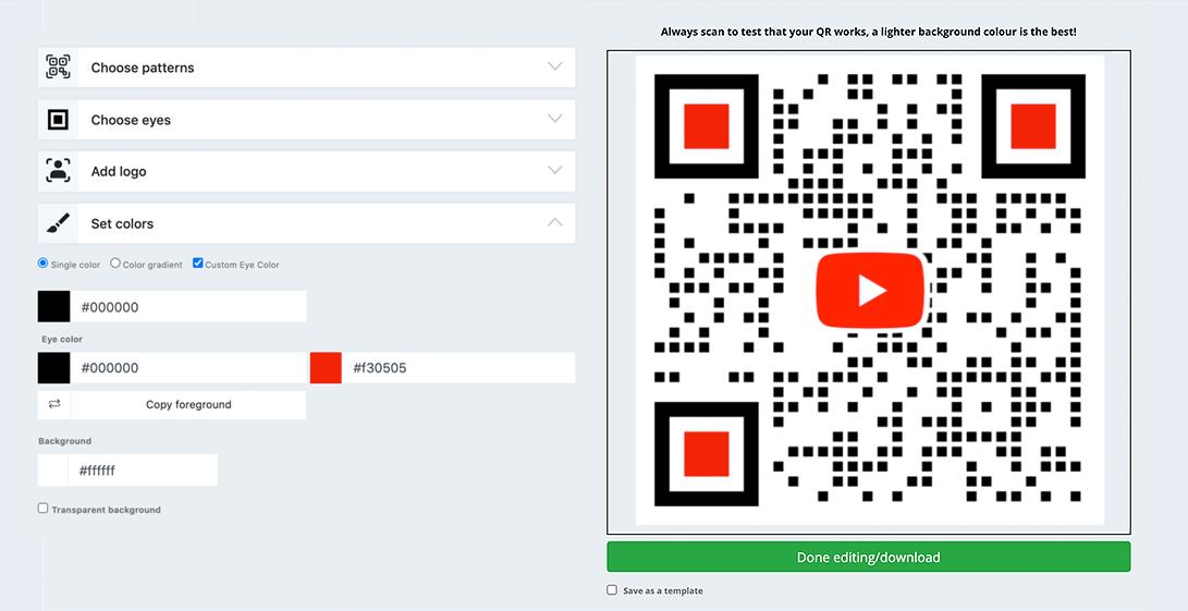 video qr code generator
