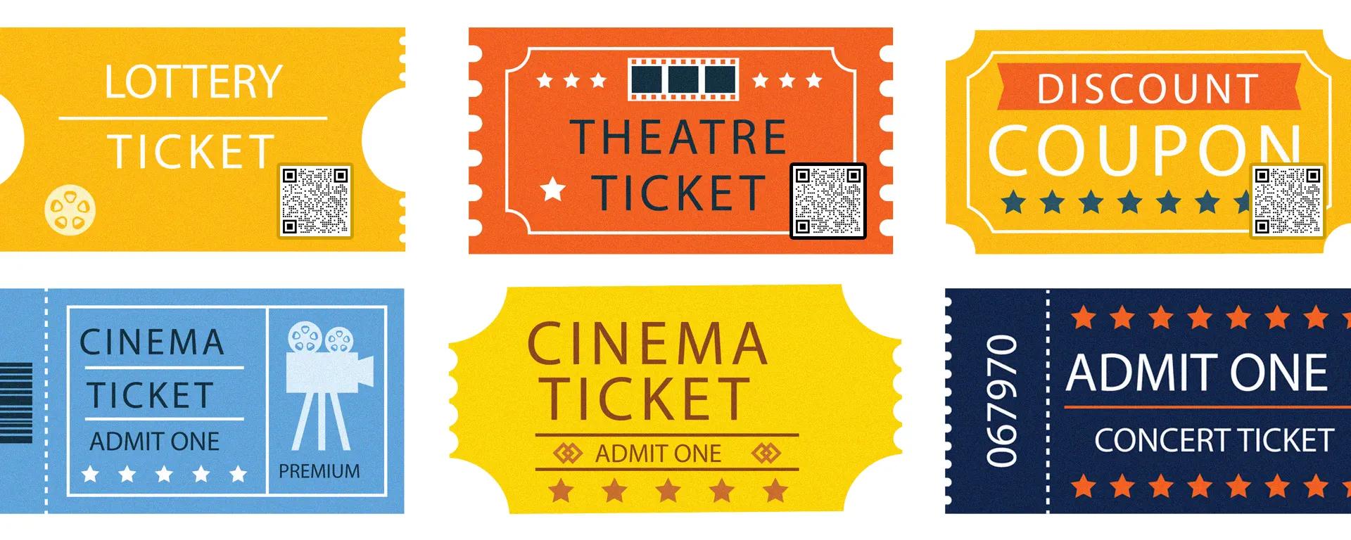 qr codes on tickets
