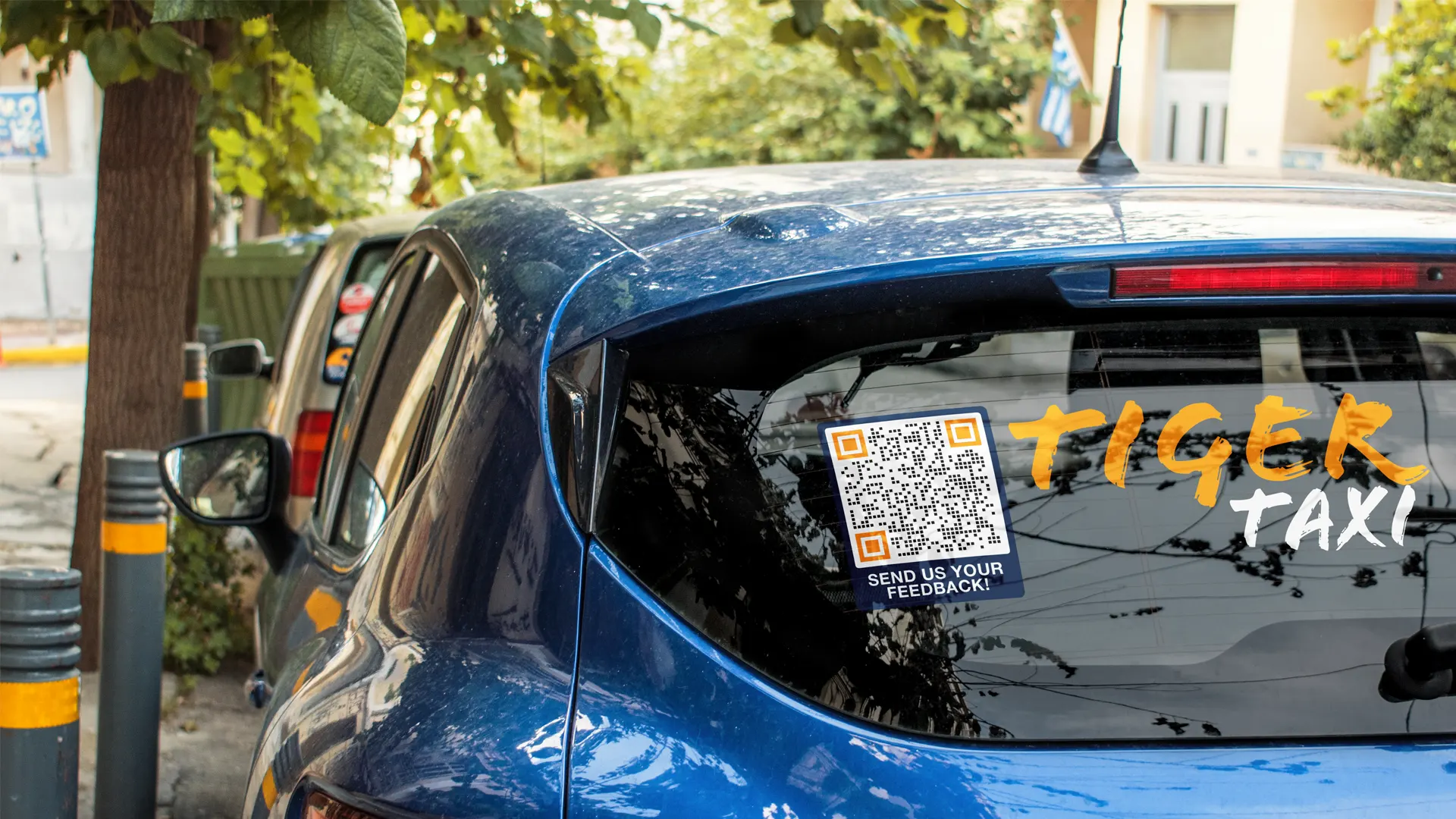 ask for feedback using qr code stickers