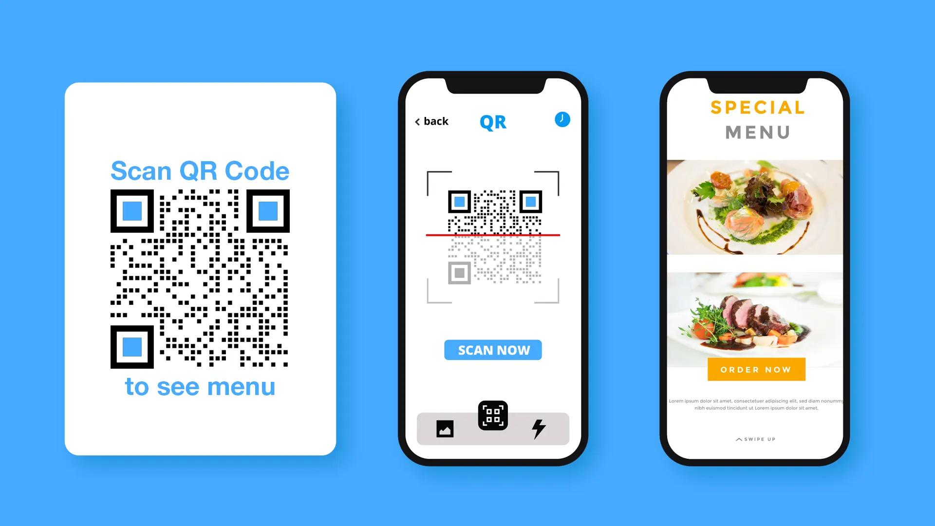 image qr code restaurant menu