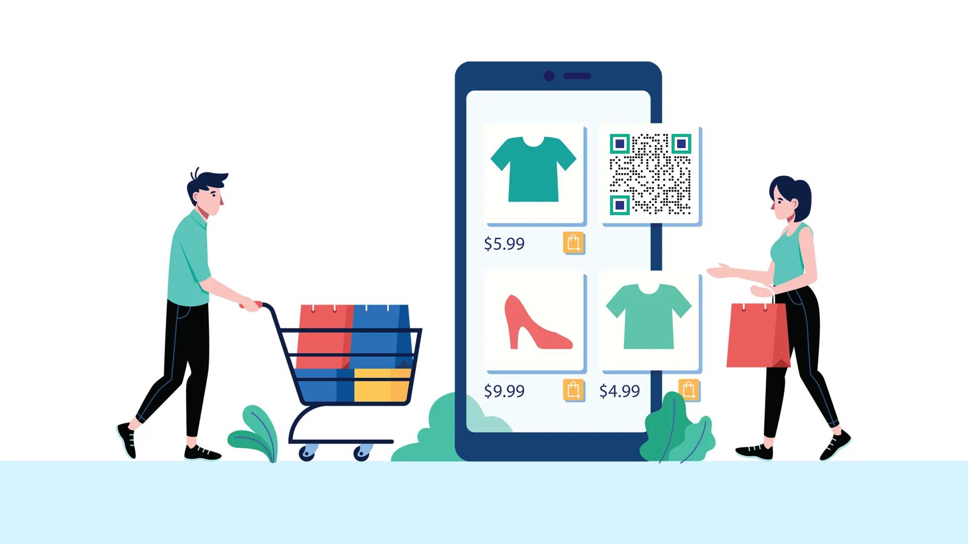 social media qr code e-commerce