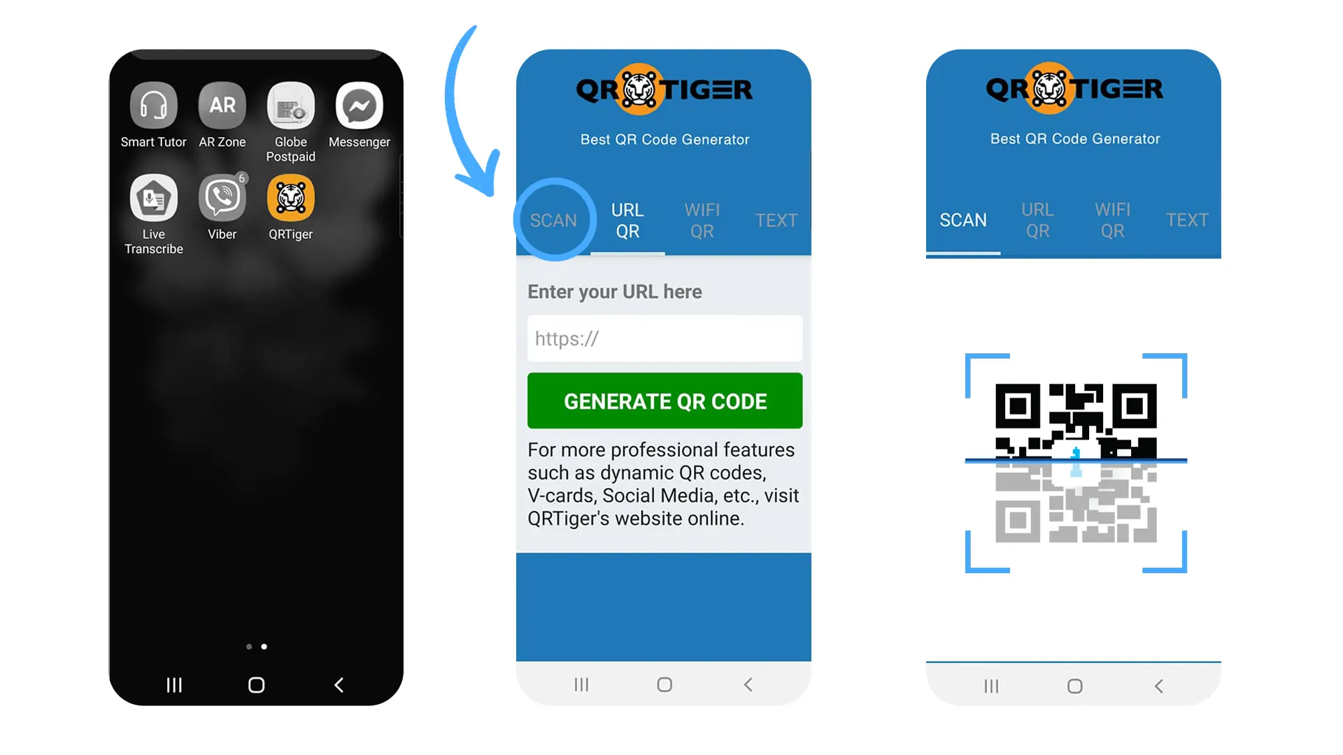 how to scan qr codes mobile app