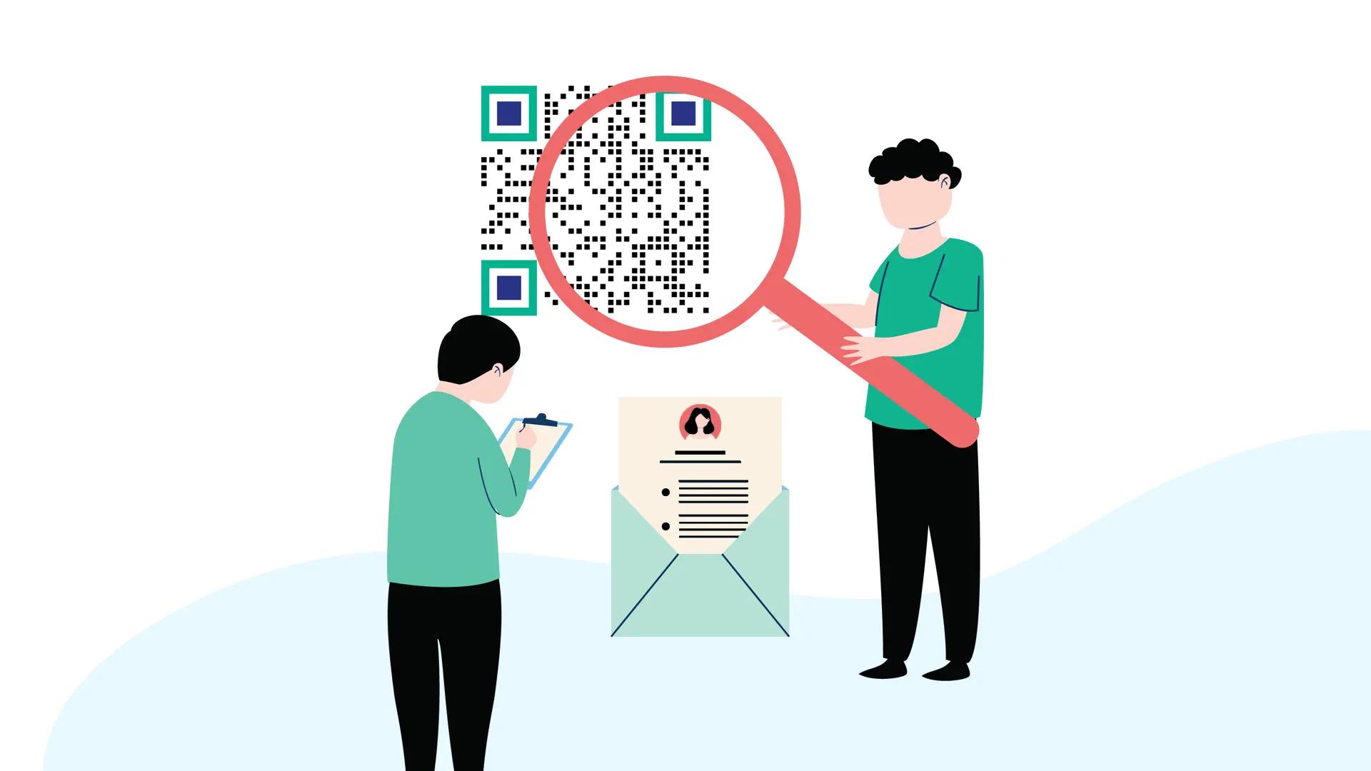 qr code resume find