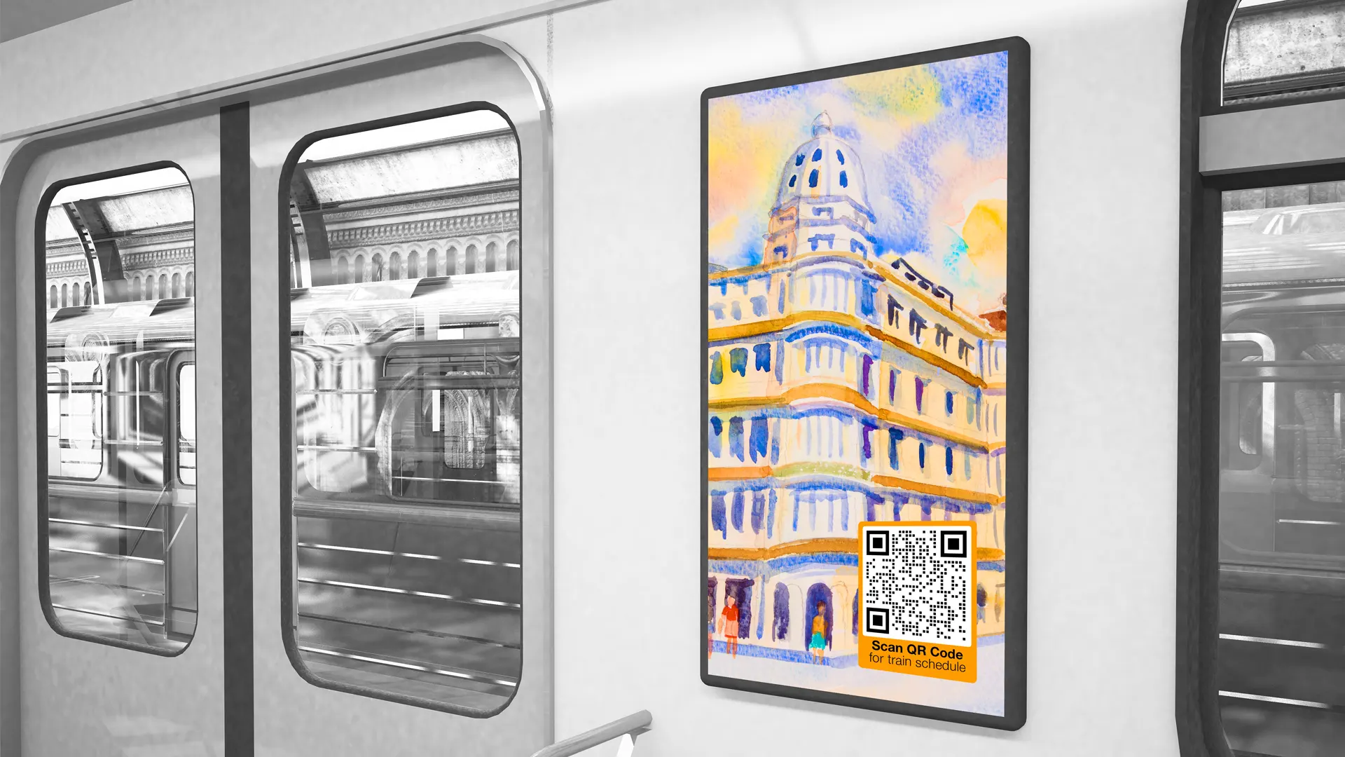 creative uses of qr codes trains bus stops