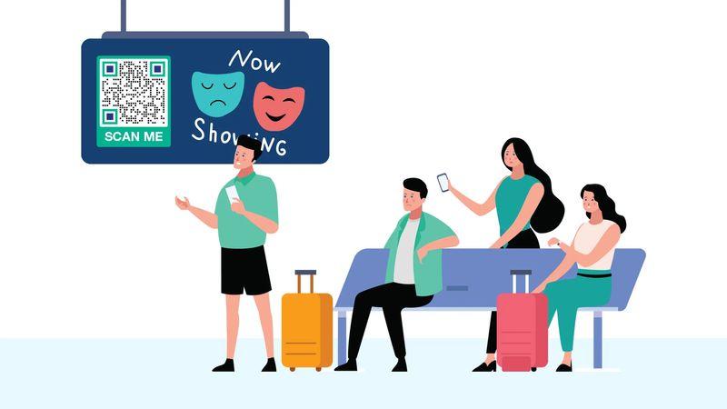 qr codes in australia airport