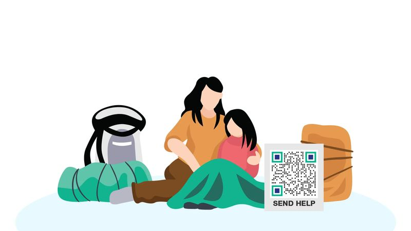qr codes in china alms