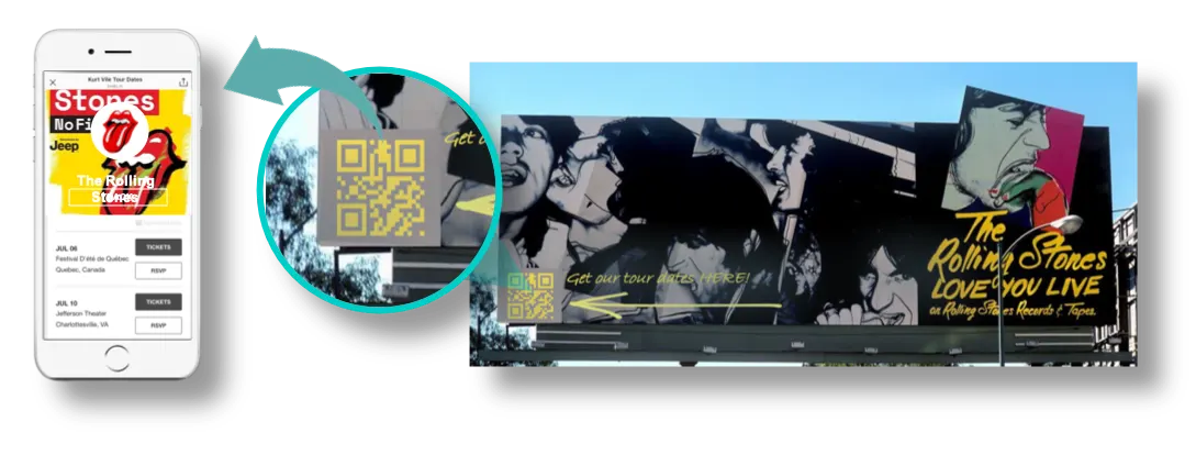 qr codes on poster and billboards