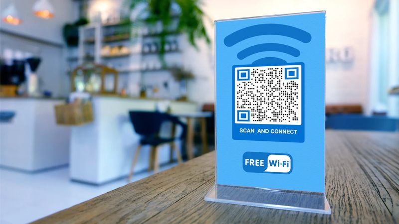 your business with wifi qr code