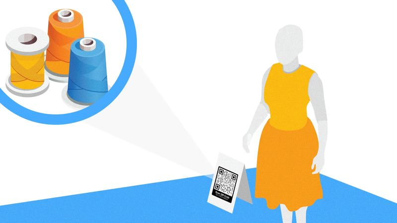 qr codes in wholesale clothing and fashion