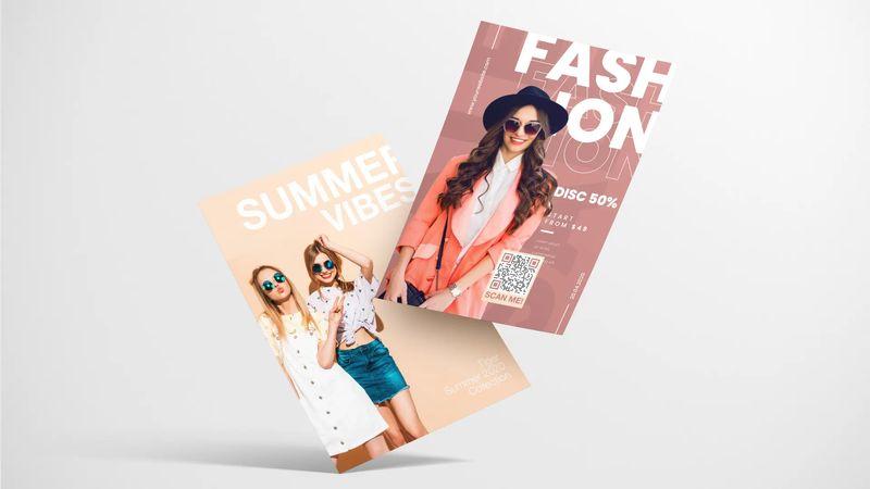 qr codes on flyer fashion