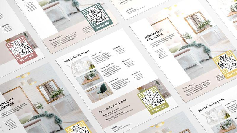 qr codes on flyer for ordering online