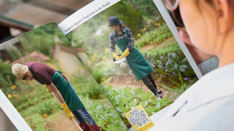 magazine qr code example nature