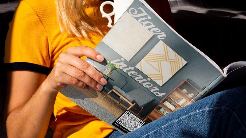 magazine qr code back