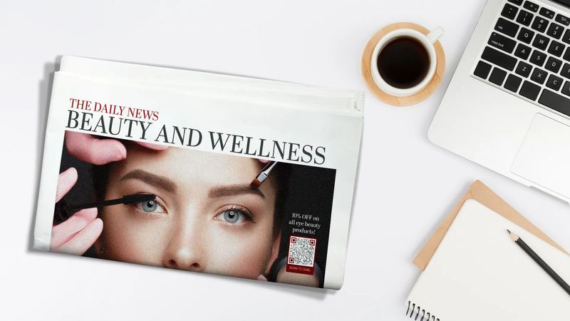 magazine qr code example beauty and wellness