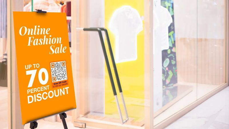 qr codes in print ads for discount