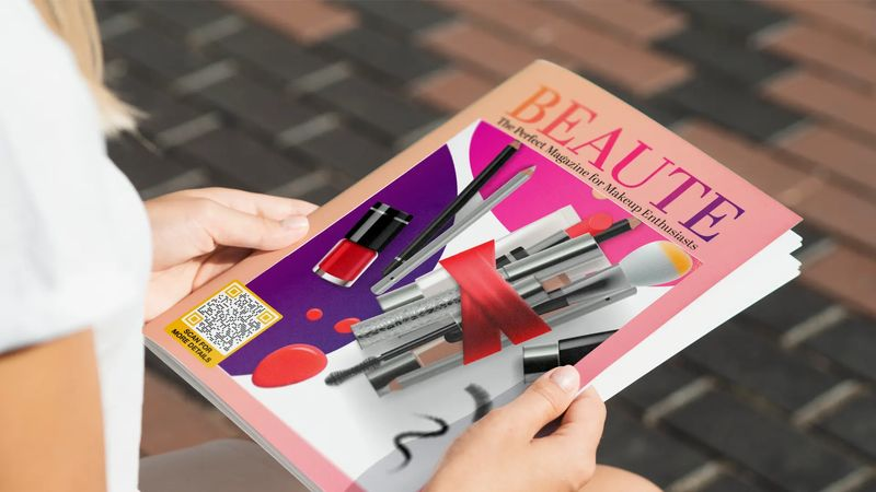 qr codes in magazines cover
