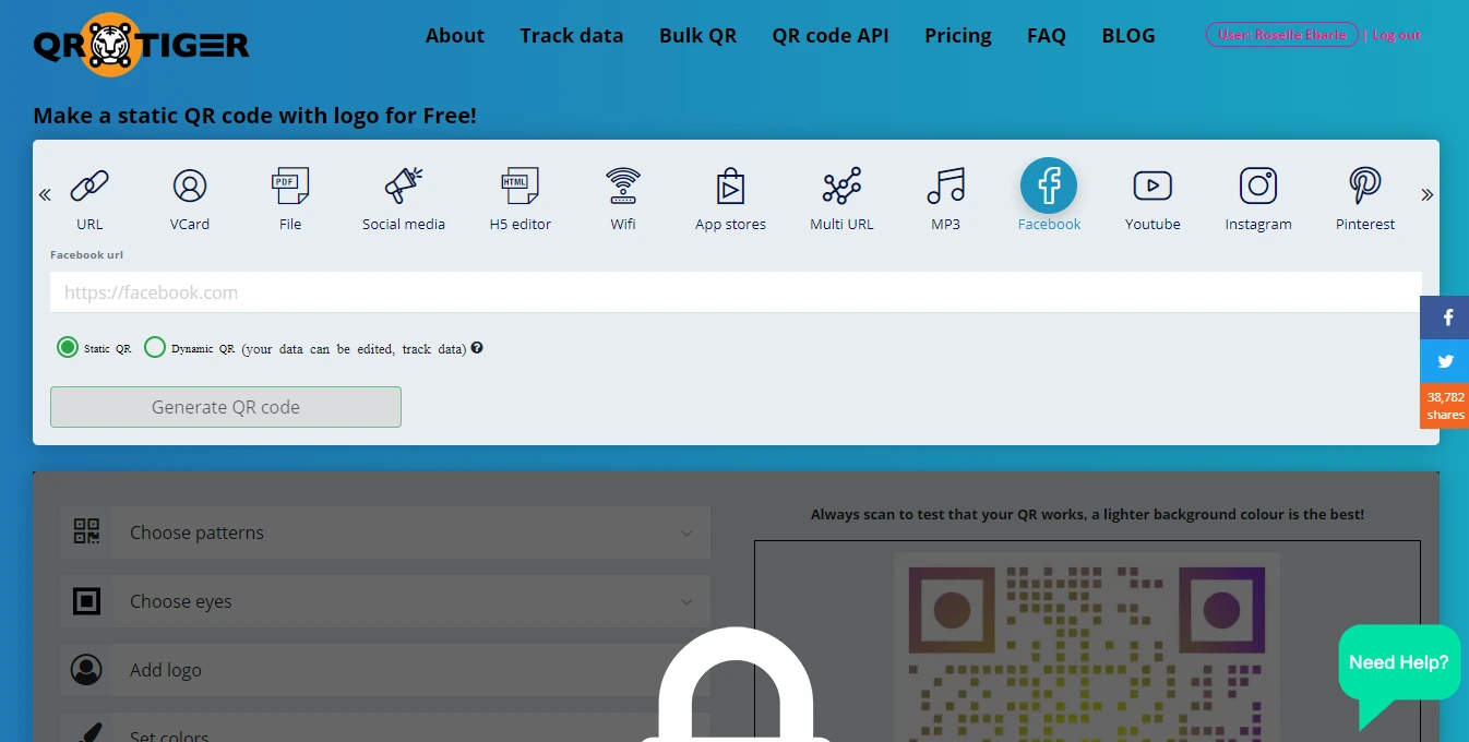 how to create a website qr code url