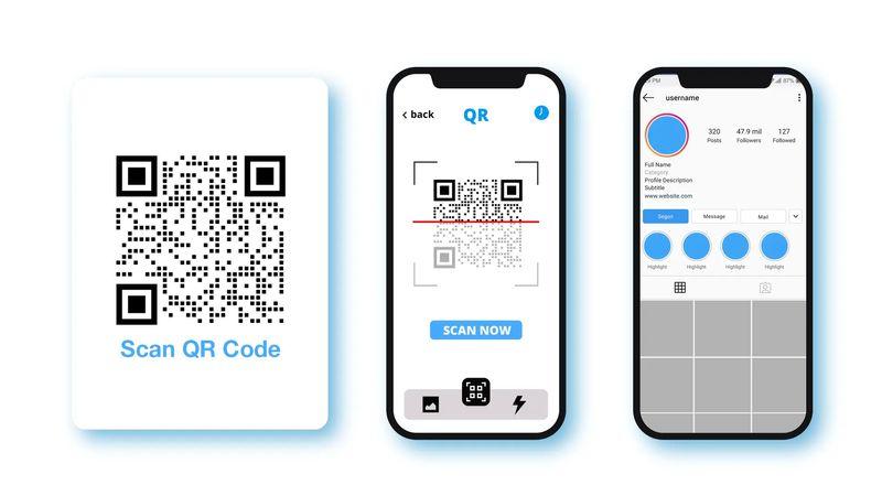 scan qr code android social media