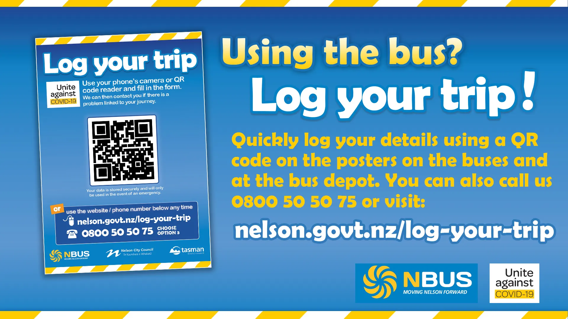 log you trip using qr codes on poster