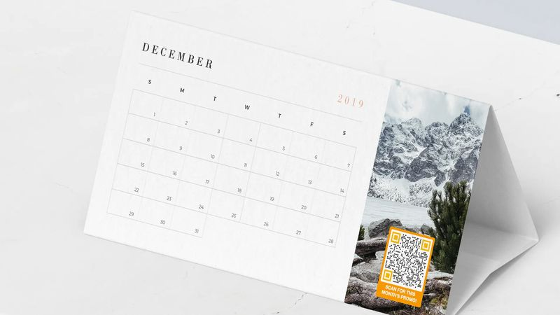 qr code discount on calendars
