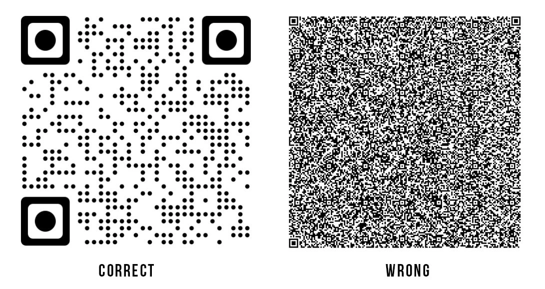 qr code stickers mistakes