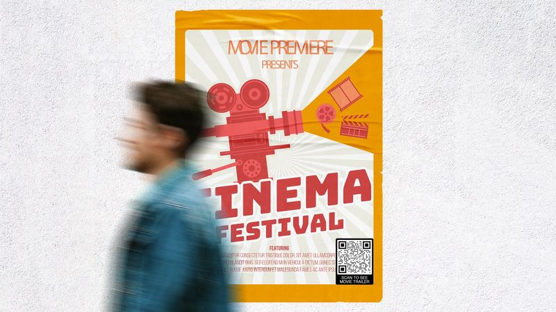 video qr code for your movie poster
