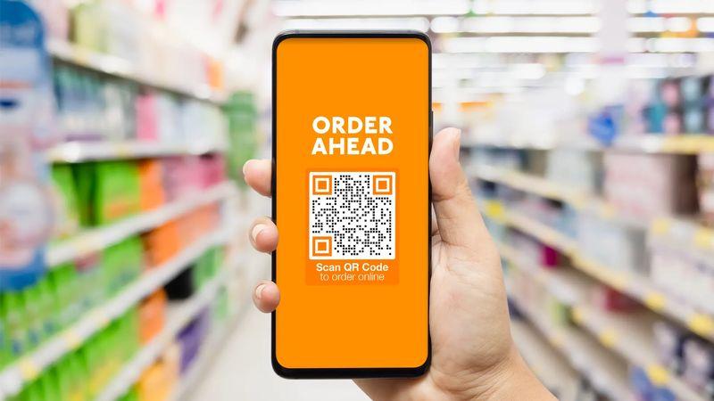 qr codes in print ads order ahead