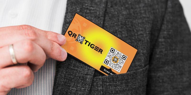 qr code frames business card