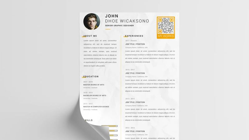video qr code on your resume