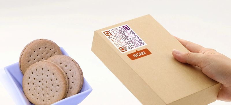 qr code frames product packaging