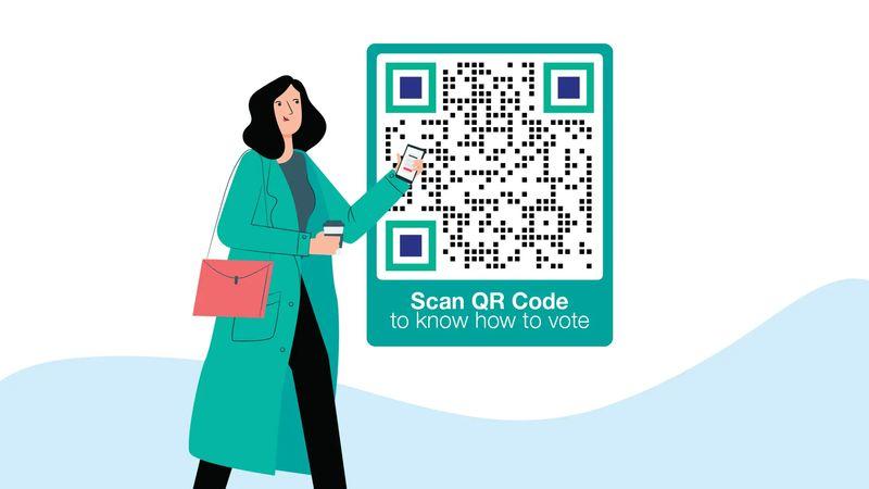qr codes in australia voting awareness