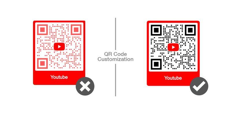 customize youtube qr code
