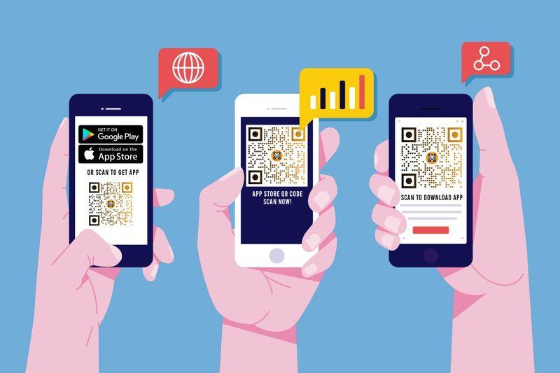 app stores qr code